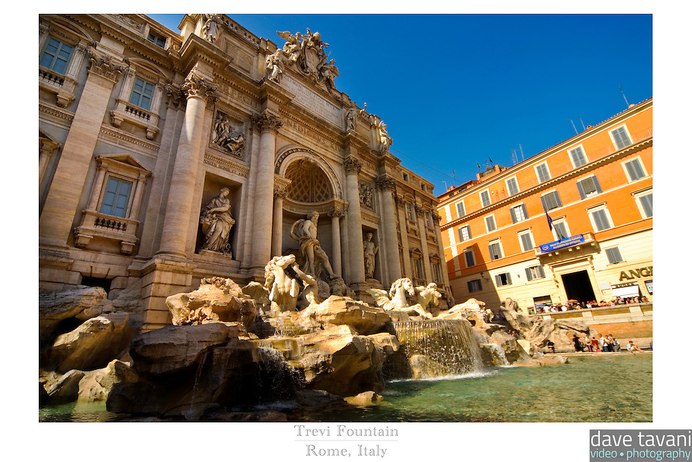 20x30 or 24x36 inch poster of the Trevi Fountain in Rome, Italy.