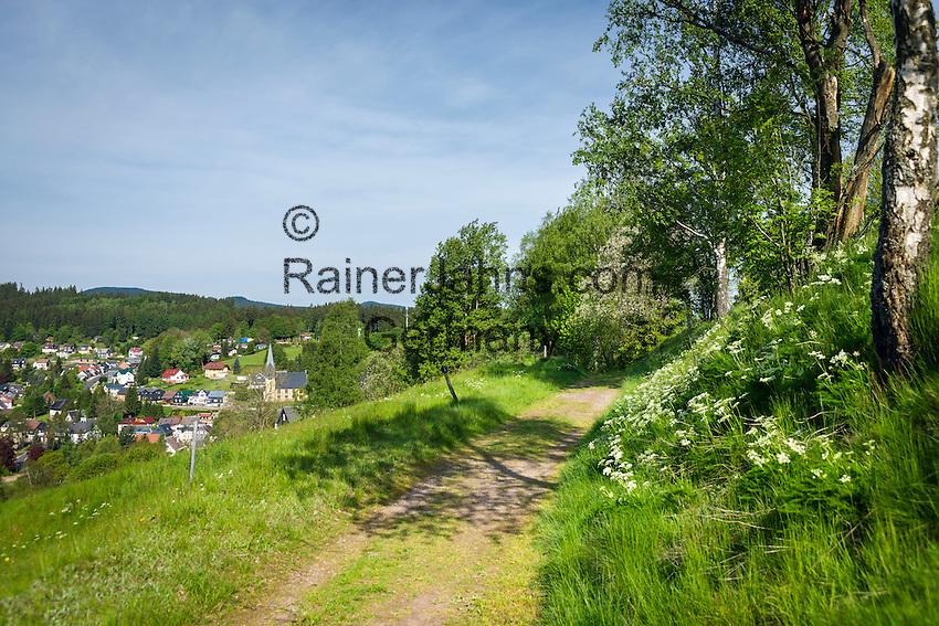 Germany, Thuringia, Stuetzerbach: village in Thuringia Forest, only 3 km far from Rennsteig Hiking Trail | Deutschland, Thueringen, Stuetzerbach: im Tal der Lengwitz, am Nordosthang des Thueringer Waldes gelegen, nur etwa 3 km vom Rennsteig entfernt
