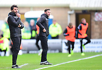 Lincoln City manager Danny Cowley  shouts instructions to his team from the technical area<br /> <br /> Photographer Andrew Vaughan/CameraSport<br /> <br /> The EFL Sky Bet League Two - Lincoln City v Forest Green Rovers - Saturday 3rd November 2018 - Sincil Bank - Lincoln<br /> <br /> World Copyright &copy; 2018 CameraSport. All rights reserved. 43 Linden Ave. Countesthorpe. Leicester. England. LE8 5PG - Tel: +44 (0) 116 277 4147 - admin@camerasport.com - www.camerasport.com