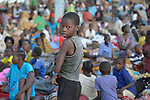 A child in a camp for over 5,000 internally displaced persons in an Episcopal Church compound in Wau, South Sudan. Most of the families here were displaced by violence early in 2017, after a larger number took refuge in other church sites when widespread armed conflict engulfed Wau in June 2016.<br /> <br /> Norwegian Church Aid, a member of the ACT Alliance, has provided relief supplies to the displaced in Wau, and has supported the South Sudan Council of Churches as it has struggled to mediate the conflict in Wau.