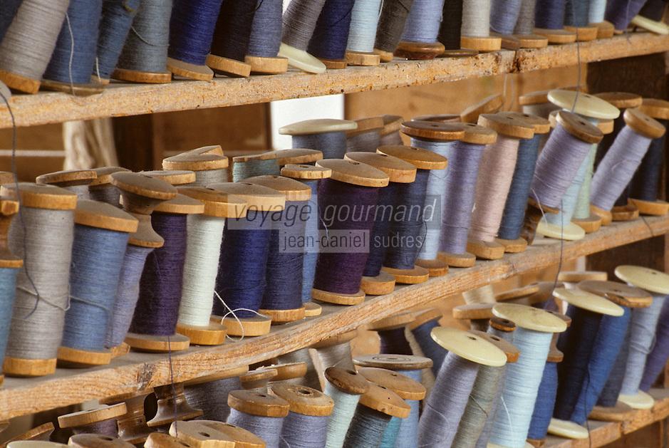 Europe/France/Limousin/23/Creuse/Aubusson: Atelier de Tapisserie Tabard - Magasin des laines et cotons - Bobines