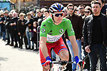 Green Jersey holder Arnaud Demare (FRA) Groupama-FDJ arrives at sign on before the start of Stage 5 running 165km from Salon-de-Provence to Sisteron, France. 8th March 2018.<br /> Picture: ASO/Alex Broadway | Cyclefile<br /> <br /> <br /> All photos usage must carry mandatory copyright credit (&copy; Cyclefile | ASO/Alex Broadway)