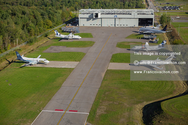 Discovery Air Technical Services is pictured in this aerial photo in Quebec city Thursday September 3, 2015. Discovery Air Technical Services