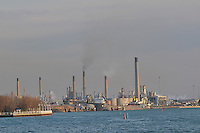 Sarnia waterfront, buildings and Chemical Valley