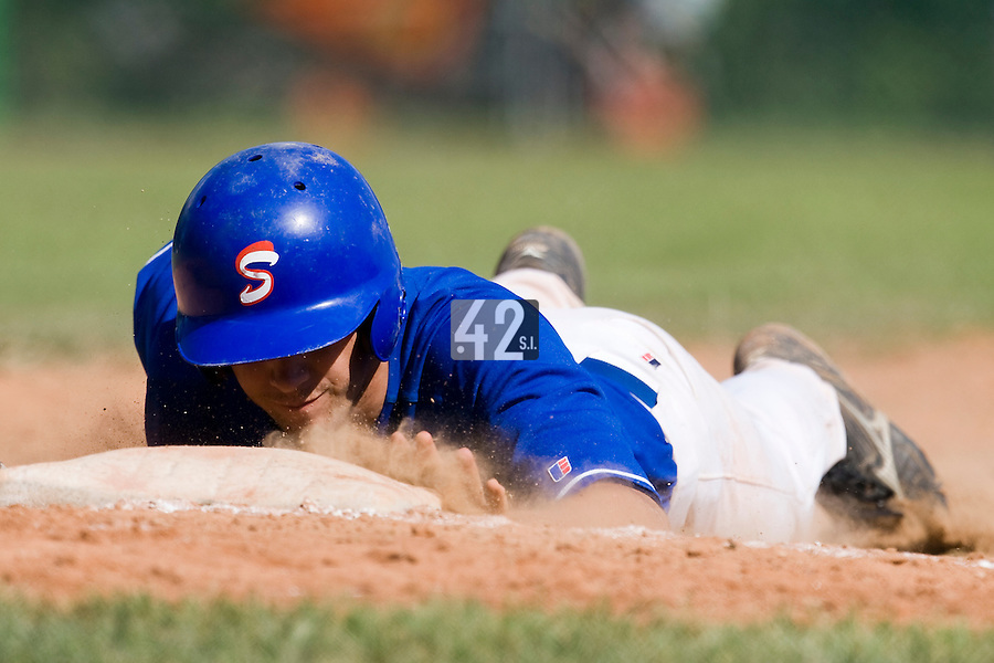 BASEBALL - EUROPEAN UNDER -21 CHAMPIONSHIP - PAMPELUNE (ESP) - 03 TO 07/09/2008 - PHOTO : CHRISTOPHE ELISE.BELGIUM VS SLOVAKIA (WINNER 9-8) - UNIDENTIFIED PLAYER (SLOVAKIA)