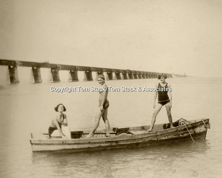 Historic Florida Keys with Overseas Railroad Bridge.