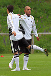 UEFA U21 Europameisterschaft / EM Europeen Championship Under 21 2009 Schweden / Sweden 20.06.2009 Training Floda<br /> <br /> Training der Deutschen Nationalmannschaft U21.<br /> <br /> Ashkan Dejagah (GER U21 VfL Wolfsburg #9) und Mesut &Ouml;zil (GER U21 Oezil Werder Bremen #10).<br /> <br /> Foto &copy; nph ( nordphoto )