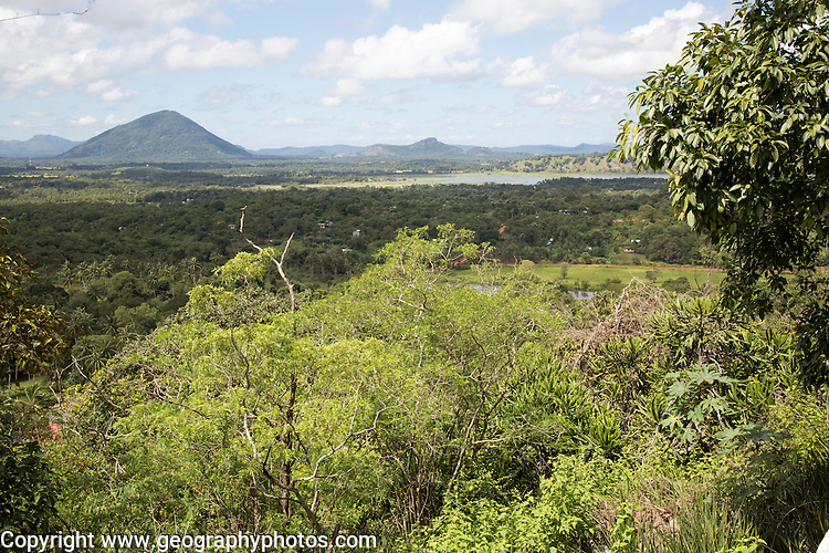 Landscape view over countryside from Dambulla, Sri Lanka, Asia