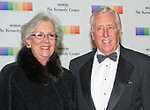 United States House Minority Whip Steny Hoyer (Democrat of Maryland) and guest arrive for the formal Artist's Dinner honoring the recipients of the 38th Annual Kennedy Center Honors hosted by United States Secretary of State John F. Kerry at the U.S. Department of State in Washington, D.C. on Saturday, December 5, 2015. The 2015 honorees are: singer-songwriter Carole King, filmmaker George Lucas, actress and singer Rita Moreno, conductor Seiji Ozawa, and actress and Broadway star Cicely Tyson.<br /> Credit: Ron Sachs / Pool via CNP