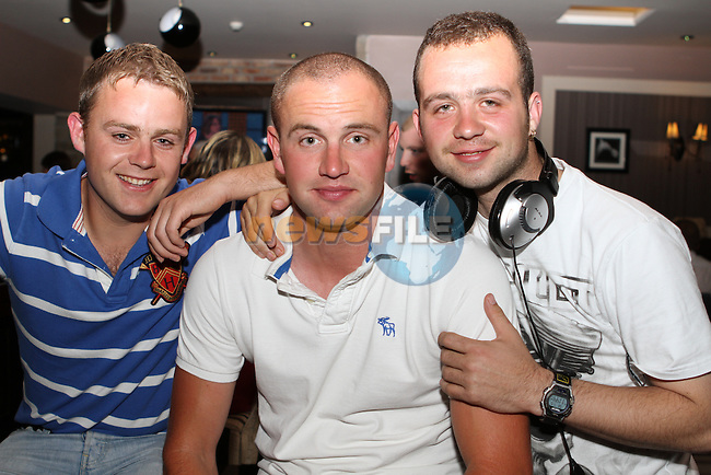 Andrew Farrell, Colin Coyle and Shane McKenna in the Pheasant...(Photo credit should read Jenny Matthews www.newsfile.ie)....This Picture has been sent you under the conditions enclosed by:.Newsfile Ltd..The Studio,.Millmount Abbey,.Drogheda,.Co Meath..Ireland..Tel: +353(0)41-9871240.Fax: +353(0)41-9871260.GSM: +353(0)86-2500958.email: pictures@newsfile.ie.www.newsfile.ie.