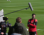 Kieron Freeman during the filming of Nicks Kicks for the Nickelodeon channel at the Sheffield Utd training session at the Shirecliffe Training Complex , Sheffield. Picture date: September 29th, 2016. Pic Simon Bellis/Sportimage