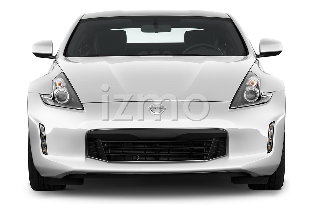 Car photography straight front view of a 2019 Nissan 370Z-Coupe 7A/T 0 Door Coupe Front View