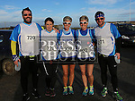 Seamus Carrie, Jenny Carrie, Alison Shearman, Cora McGrane and Kevin Boylan at the Annagassan 10km.<br /> <br /> <br /> Photo - Jenny Matthews