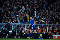 France's Remi Grosso runs back after scoring during the Steinlager Series international rugby match between the New Zealand All Blacks and France at Eden Park in Auckland, New Zealand on Saturday, 9 June 2018. Photo: Dave Lintott / lintottphoto.co.nz