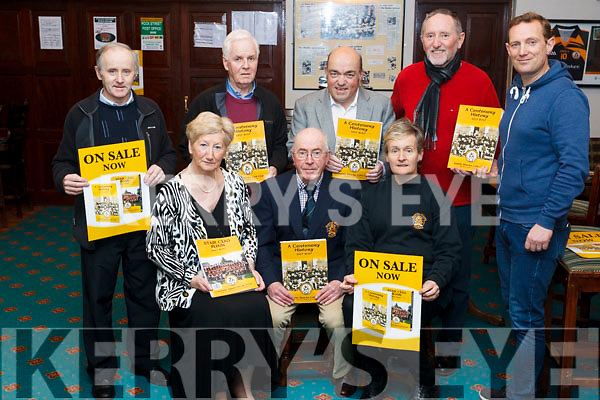 Attending the Press launch of the Austin Stacks 100 Years Book was held in the Clubrooms in Connolly park on Monday night last, Seated l to r: Mmairead Fernane, Martin Collins and Ardienne McLoughlin, Standing l to r; Tim Slattery, Tadgh McMahon, Kerry O'Shea, Billy Ryle and Seamus Smith.