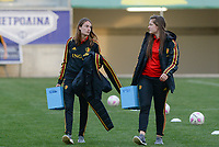 20180228 - LARNACA , CYPRUS :  Belgian Tessa Wullaert and Diede Lemey pictured during a women's soccer game between Spain and the Belgian Red Flames , on friday 2 March 2018 at the AEK Arena in Larnaca , Cyprus . This is the second  game in group B for  Belgium during the Cyprus Womens Cup , a prestigious women soccer tournament as a preparation on the World Cup 2019 qualification duels. PHOTO SPORTPIX.BE | DAVID CATRY