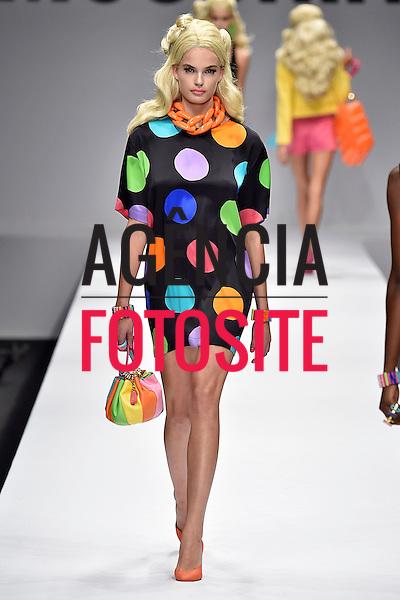 Milao, It&aacute;lia &sbquo;09/2014 - Desfile de Moschino durante a Semana de moda de Nova Milao  -  Verao 2015. <br /> <br /> Foto: FOTOSITE