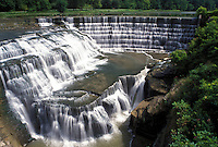 waterfall, Ithaca, NY, New York, Finger Lakes, Triphammer Falls at Beebe Lake on the campus of Cornell University.