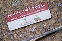 Domaine Leon Barral, Faugeres. Faugeres. Languedoc. France. Europe.