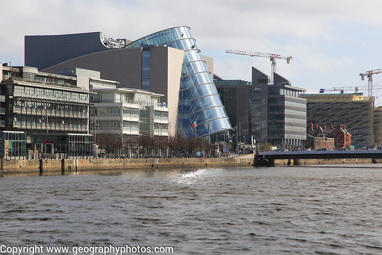 Convention Centre Dublin, Spencer Dock, Dublin Docklands, Ireland, Republic of Ireland architect Kevin Roche, 2010