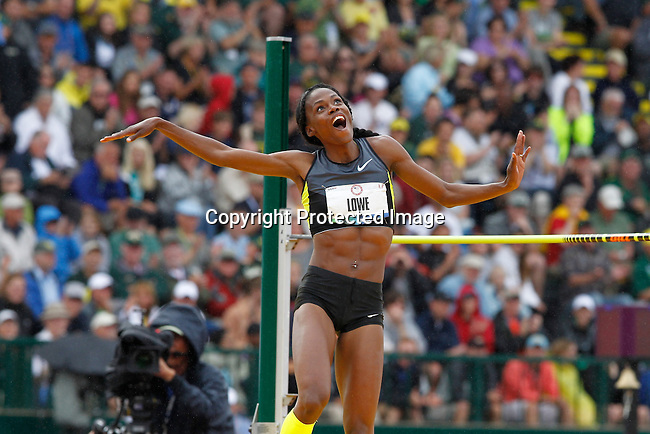 at the U.S. Olympic athletics trials in Eugene, Oregon June 30, 2012. REUTERS/Steve Dipaola (UNITED STATES)