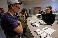 Kassel, Germany. Opening days of documenta14.<br /> Fridericianum.<br /> Stefanos Tsivopoulos: Precarious Archive<br /> (activation)