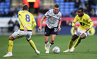 Bolton Wanderers' Craig Noone competing with Blackburn Rovers' Joe Rothwell and Kasey Palmer<br /> <br /> Photographer Andrew Kearns/CameraSport<br /> <br /> The EFL Sky Bet Championship - Bolton Wanderers v Blackburn Rovers - Saturday 6th October 2018 - University of Bolton Stadium - Bolton<br /> <br /> World Copyright &copy; 2018 CameraSport. All rights reserved. 43 Linden Ave. Countesthorpe. Leicester. England. LE8 5PG - Tel: +44 (0) 116 277 4147 - admin@camerasport.com - www.camerasport.com