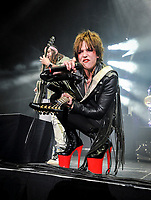 Lzzy Hale – lead vocals, rhythm guitar, acoustic guitar, keyboards, piano for Halestorm 2019 Fall Tour October 13th, 2019 in Ontario, California at the Toyota Arena