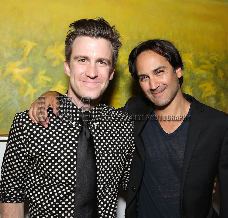 Gavin Creel and Robbie Routh attend 'Parlor Night' A benefit evening for The Broadway Inspirational Voices Outreach Program at the home of Roy and Jenny Neiderhoffer on June 22, 2015 in New York City.