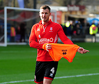 Lincoln City's Michael O'Connor during the pre-match warm-up<br /> <br /> Photographer Andrew Vaughan/CameraSport<br /> <br /> The EFL Sky Bet League Two - Lincoln City v Mansfield Town - Saturday 24th November 2018 - Sincil Bank - Lincoln<br /> <br /> World Copyright &copy; 2018 CameraSport. All rights reserved. 43 Linden Ave. Countesthorpe. Leicester. England. LE8 5PG - Tel: +44 (0) 116 277 4147 - admin@camerasport.com - www.camerasport.com