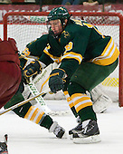 Louke Oakley (Clarkson - 19) - The Harvard University Crimson defeated the visiting Clarkson University Golden Knights 3-2 on Harvard's senior night on Saturday, February 25, 2012, at Bright Hockey Center in Cambridge, Massachusetts.