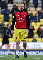 Fleetwood Town's Paddy Madden during the pre-match warm-up <br /> <br /> Photographer David Shipman/CameraSport<br /> <br /> The EFL Sky Bet League One - Bradford City v Fleetwood Town - Saturday 9th February 2019 - Valley Parade - Bradford<br /> <br /> World Copyright &copy; 2019 CameraSport. All rights reserved. 43 Linden Ave. Countesthorpe. Leicester. England. LE8 5PG - Tel: +44 (0) 116 277 4147 - admin@camerasport.com - www.camerasport.com