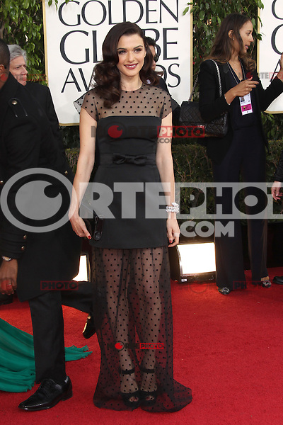 BEVERLY HILLS, CA - JANUARY 13: Rachel Weisz at the 70th Annual Golden Globe Awards at the Beverly Hills Hilton Hotel in Beverly Hills, California. January 13, 2013. Credit: mpi29/MediaPunch Inc. /NortePhoto
