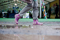 Thursday 22 May 2014<br /> Pictured: Although Sunshine is forecast for the weekend the Hay Festival gets off to a damp start<br /> Re: Hay Festival takes place at Hay on Wye, Powys, Wales