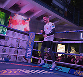 4th October 2017, National Football Museum, Manchester, England; Anthony Crolla and Ricky Burns public workout session; Ricky Burns looking relaxed during his training session