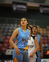 Action from the 2017 AA Girls' Secondary Schools Basketball Premiership National Championship match between Hastings Girls' High School (white) and Mt Albert Grammar School (sky blue) at the B&M Centre in Palmerston North, New Zealand on Wednesday, 4 October 2017. Photo: Dave Lintott / lintottphoto.co.nz