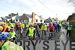 CYCLISTS: Hundreds of cyclist showed their support as they head off opn a 21k cycle in memory of the the Jimmy Duffy Cycle run, on Saturday morning from Blennerville to Castleisland return to Blennerville.