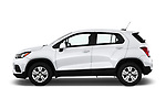 Car driver side profile view of a 2019 Chevrolet Trax LS 5 Door SUV