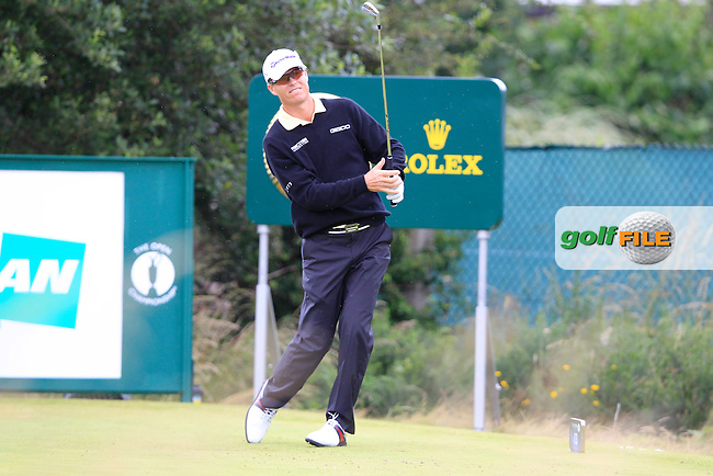 John Senden (AUS) tees off the 13th tee during Thursday's Round 1 of the 141st Open Championship at Royal Lytham & St.Annes, England 19th July 2012 (Photo Eoin Clarke/www.golffile.ie)