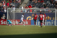 EAST RUTHERFORD, NJ - Sunday July 19, 2015: Trinidad & Tobago takes on Panama in the quarter-finals of the 2015 CONCACAF Gold Cup at Metlife Stadium in the Meadowlands, home of the New York Jets and Giants.