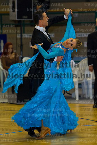 István Kunhalmi & Henrietta Szirmai perform their ballroom dance during the Tendance Hungarian National Championships organized by MTASZ held in Vac City Sports Hall, Vac, Hungary, Sunday, 05. October 2008. ATTILA VOLGYI