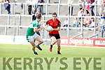Stephen O'Brien Kenmare takes on Jonathan Lyne Legion during their Club Championship s/f in Fitzgerald Stadium on Sunday