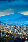 El Corzaon Volcano, Spanish Name For Heart Because Of It Shape, Extinct Stratovolcano, Modern Quito, Ecuador