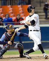 Rowell, Billy 1676.jpg. Carolina League Myrtle Beach Pelicans at the Frederick Keys at Harry Grove Stadium on May 13th 2009 in Frederick, Maryland. Photo by Andrew Woolley.