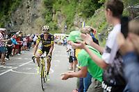 Sylvain Chavanel (FRA/DirectEnergie) up the Mont&eacute;e de Bisanne (HC/1723m/12.4km/8.2%)<br /> <br /> Stage 19:  Albertville &rsaquo; Saint-Gervais /Mont Blanc (146km)<br /> 103rd Tour de France 2016