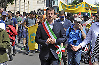- Milano 20 maggio 2017, manifestazione &quot;Insieme senza muri&quot; per l'accoglienza e l'integrazione dei popoli migranti; Giorgio Gori, sindaco di Bergamo<br />