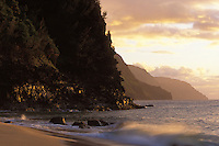 NaPali Coast Sunset at Kee Beach