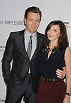 HOLLYWOOD, CA - DECEMBER 10: Ewan McGregor and Eve Mavrakis arrive at the 'The Impossible' - Los Angeles Premiere at ArcLight Cinemas Cinerama Dome on December 10, 2012 in Hollywood, California.