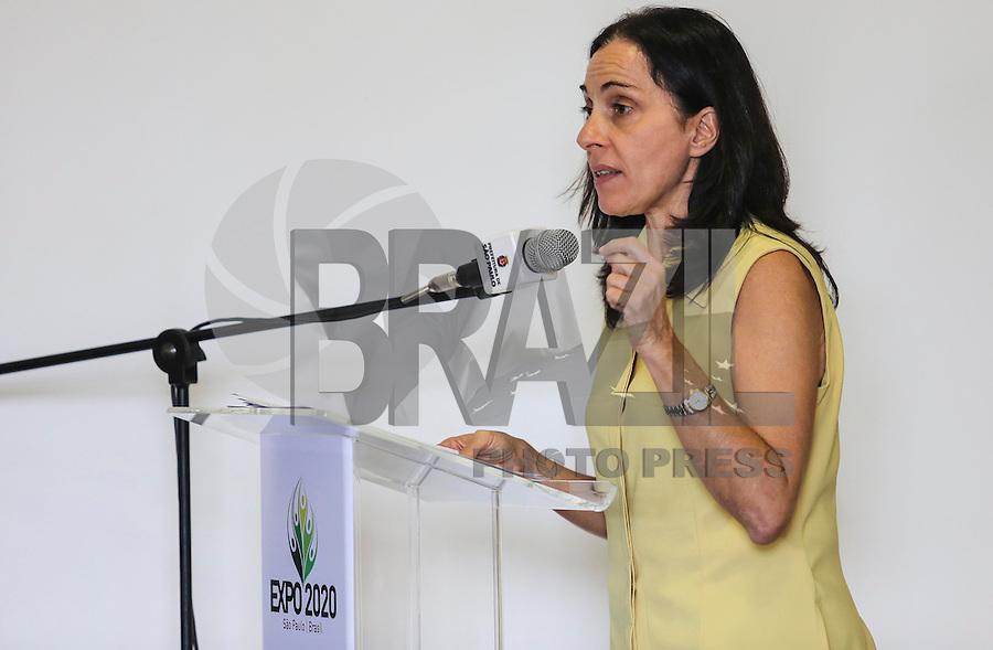 SAO PAULO, SP, 05 MARÇO DE 2013 - LANÇAMENTO EXPO 2020 - Vice prefeita de São Paulo Nadia Campeao durante lançamento da candidatura de São Paulo como sede da Expo 2020, nesta terça-feira, 05. (FOTO: VANESSA CARVALHO / BRAZIL PHOTO PRESS).