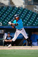 Miami Marlins Nasim Nunez (4) at bat during an Instructional League game against the Washington Nationals on September 25, 2019 at Roger Dean Chevrolet Stadium in Jupiter, Florida.  (Mike Janes/Four Seam Images)